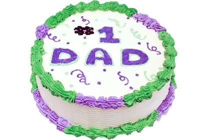 #1 Dad Father's Day Cake with Gel/Icing