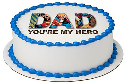 Superman - You're My Hero PhotoCake® Image