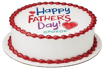 Happy Father's Day Crayon PhotoCake® Image