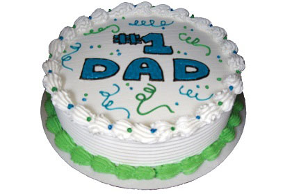 #1 Dad Fathers Day Gel Cake