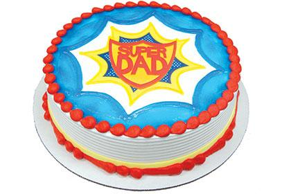 Super Dad Edible Image® Icing/Gel Cake