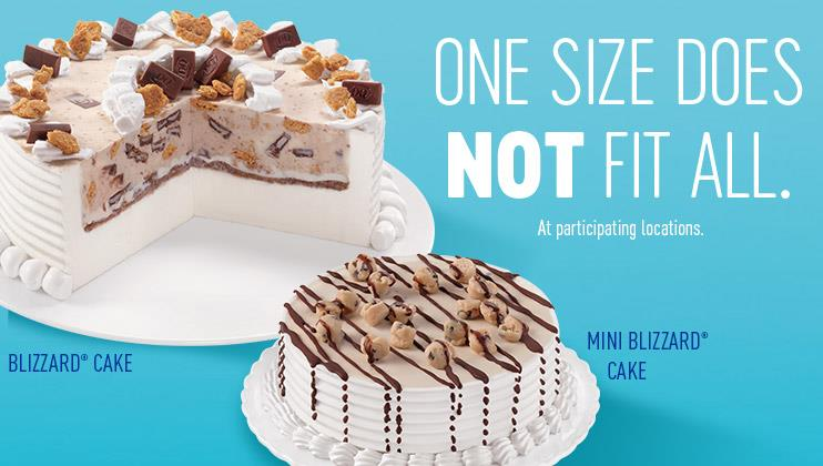 Dairy Queen Build A Cake